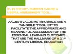 if in theory rubrics can be a useful assessment tool