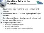 benefits of being on the dod emall