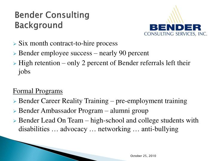 Bender consulting background3