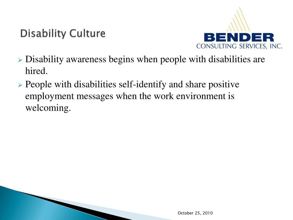 Disability Culture
