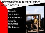 nonverbal communication serves many functions
