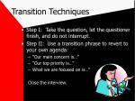 transition techniques