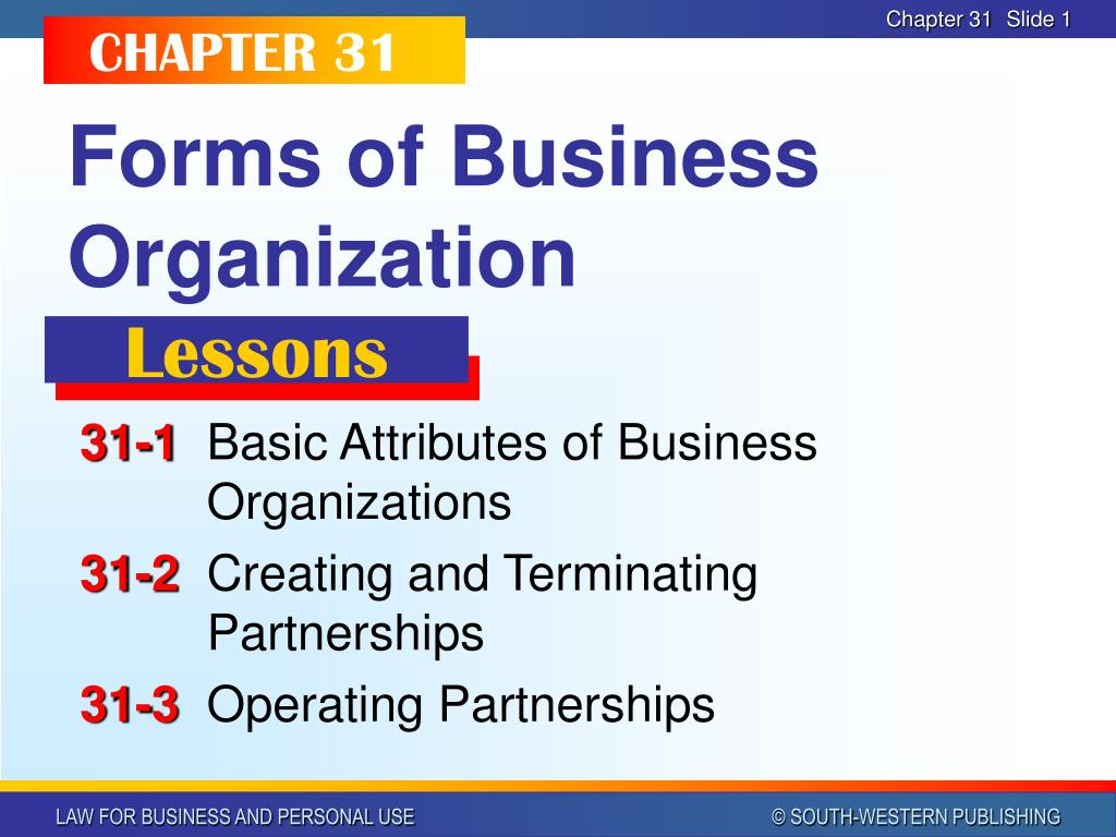 forms of business organization l.