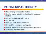 partners authority