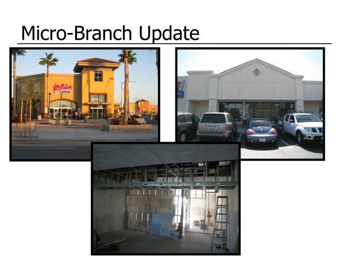 Micro-Branch Update