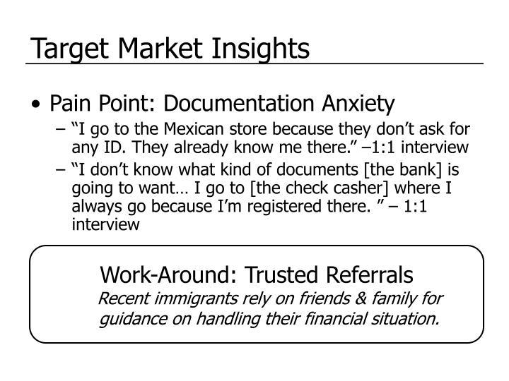 Target Market Insights