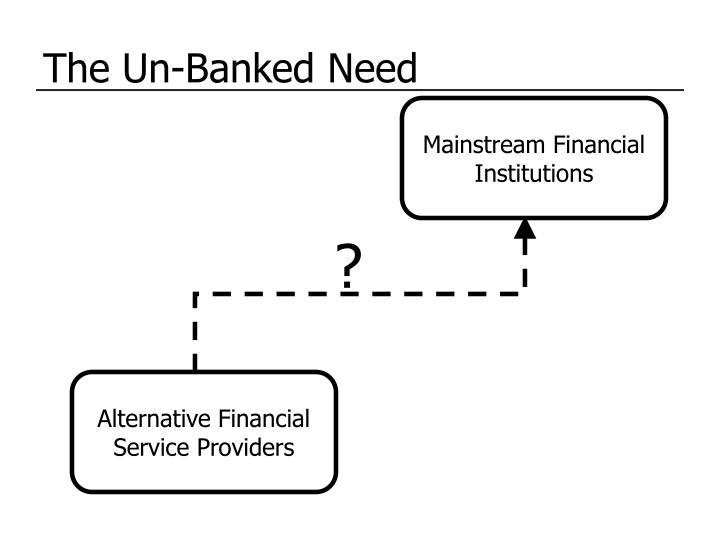 The un banked need