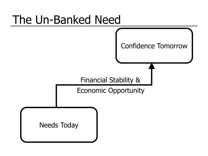 The Un-Banked Need