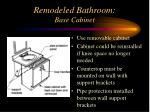remodeled bathroom base cabinet