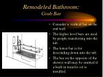 remodeled bathroom grab bar