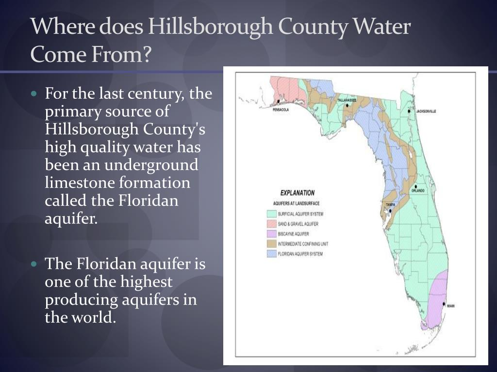 Where does Hillsborough County Water Come From?