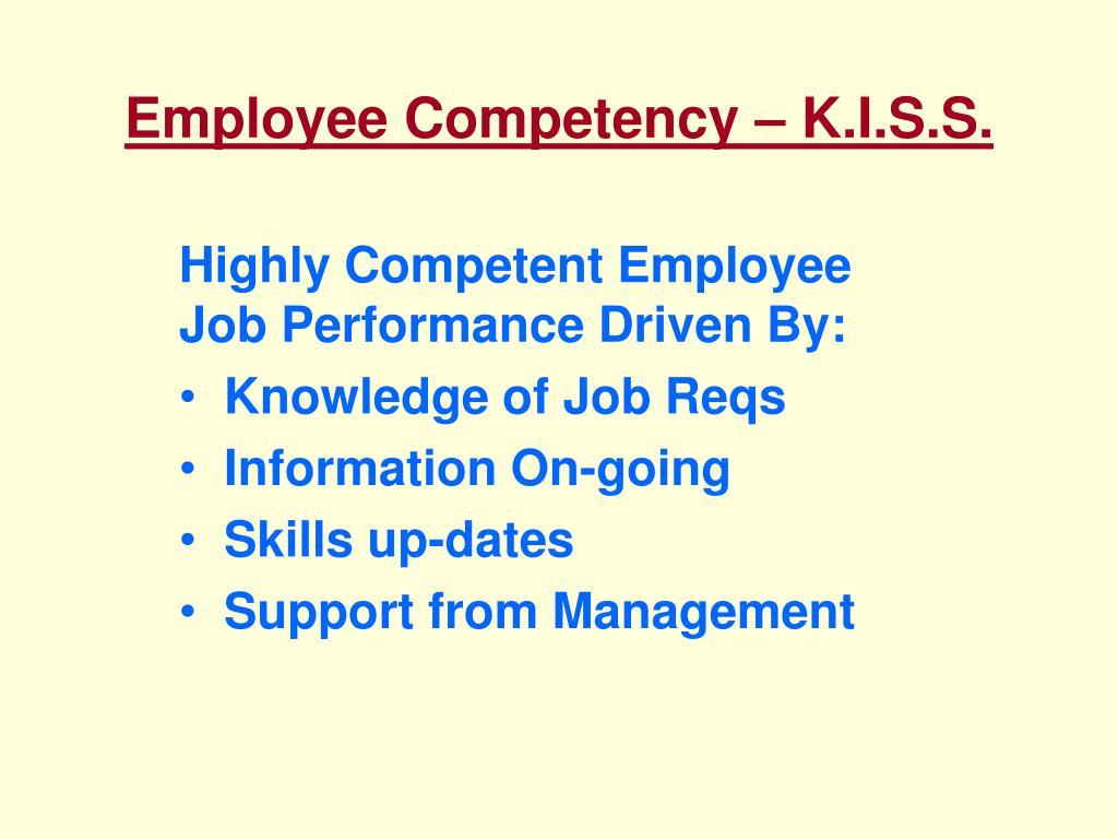 Employee Competency – K.I.S.S.