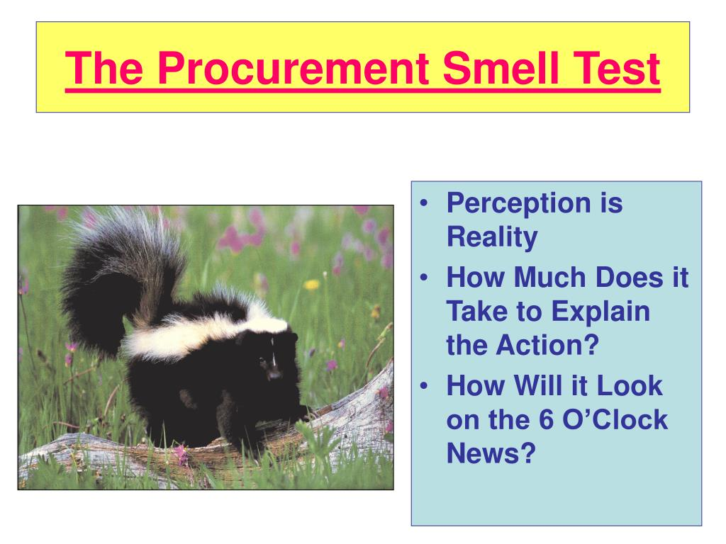 The Procurement Smell Test