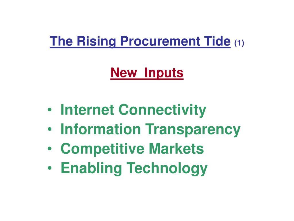 The Rising Procurement Tide