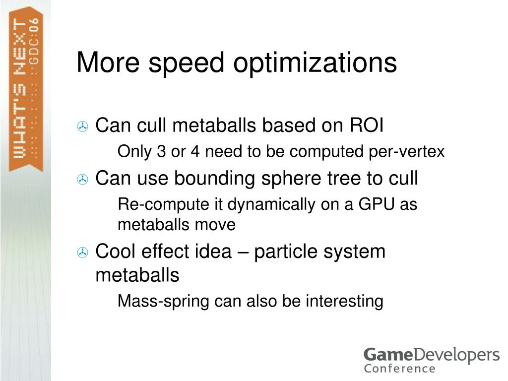 More speed optimizations