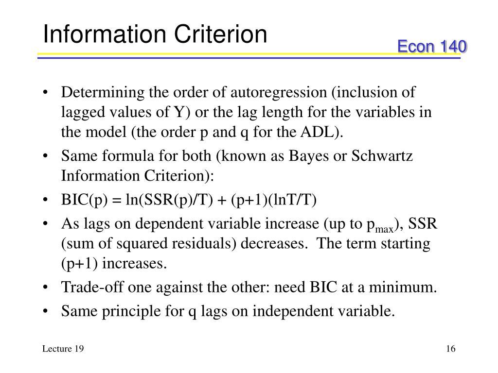 Information Criterion
