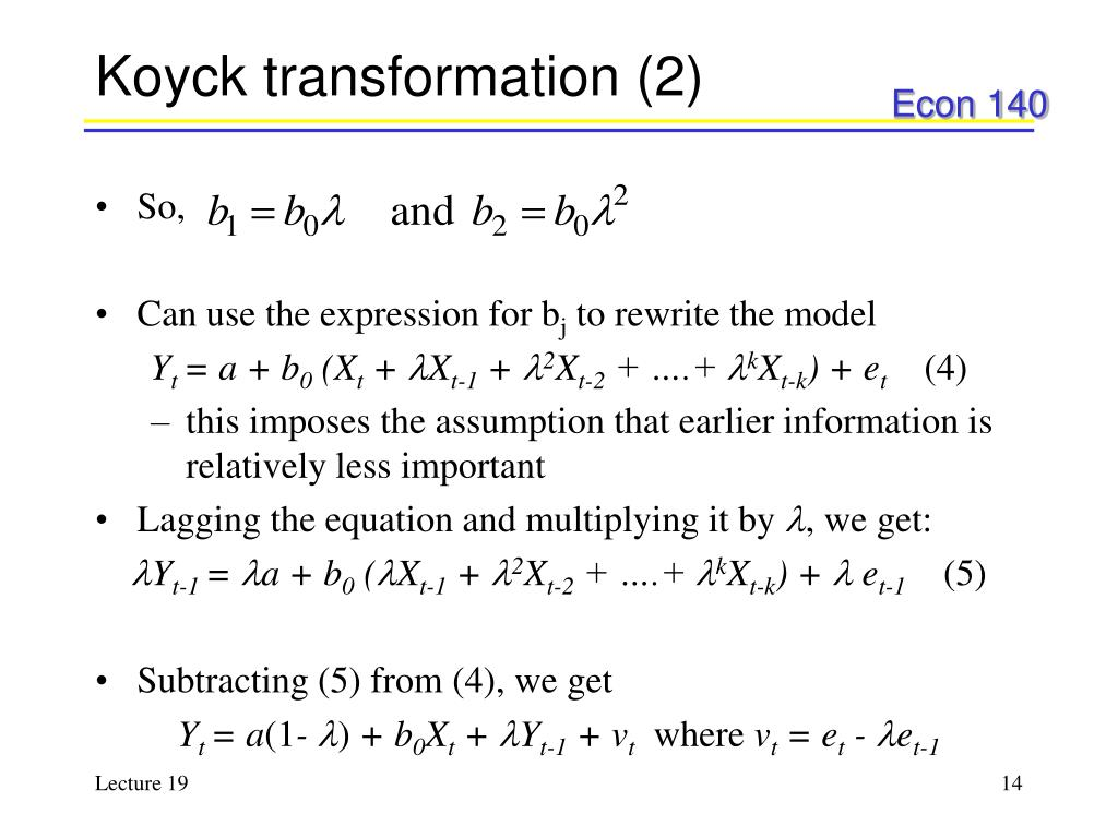 Koyck transformation (2)