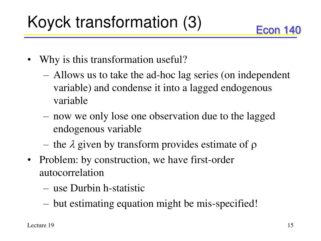Koyck transformation (3)