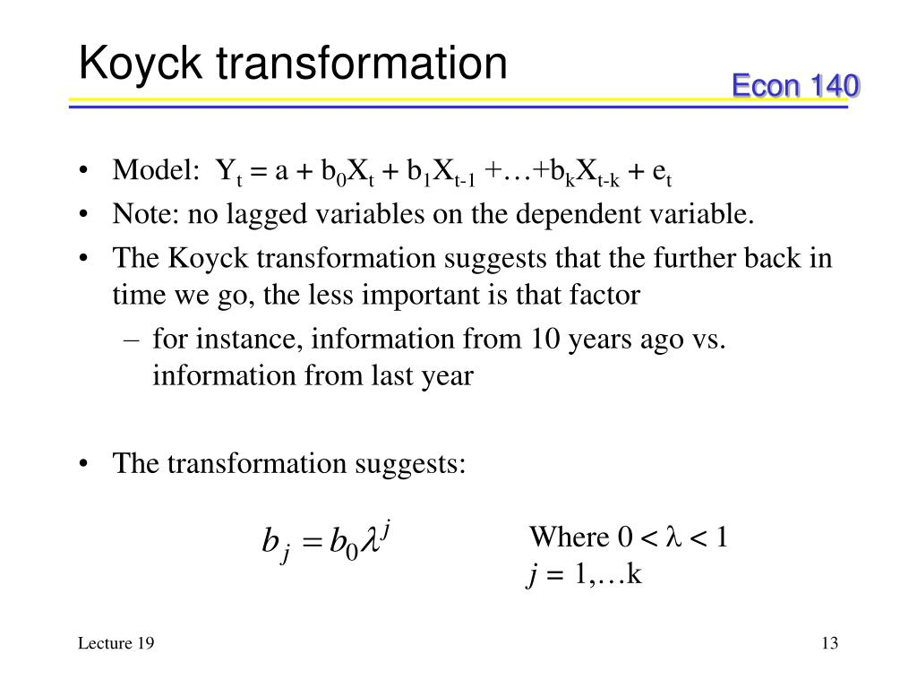 Koyck transformation