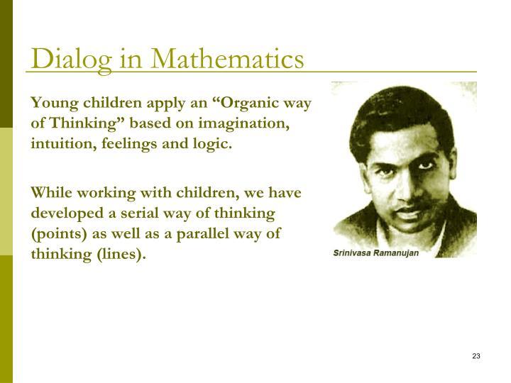 Dialog in Mathematics