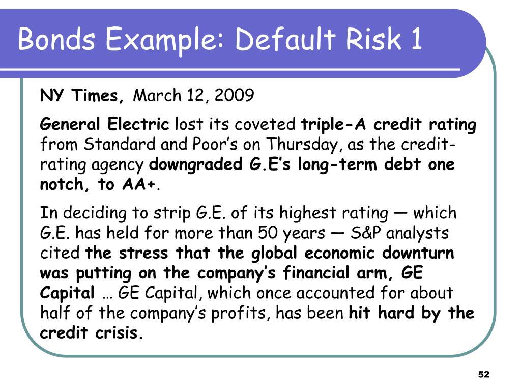 Bonds Example: Default Risk 1