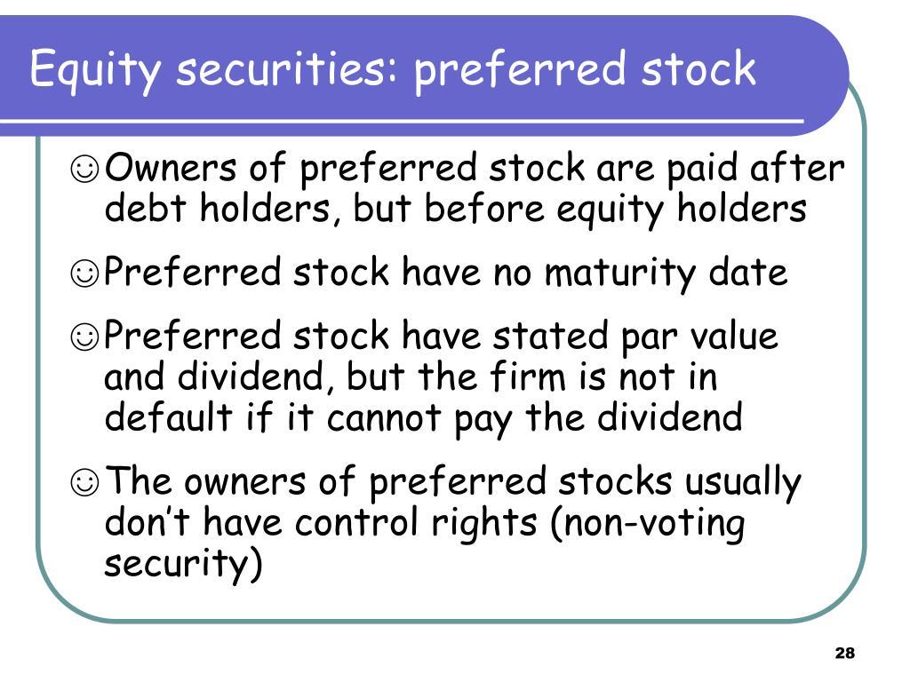 Equity securities: preferred stock