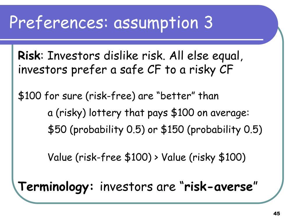 Preferences: assumption 3