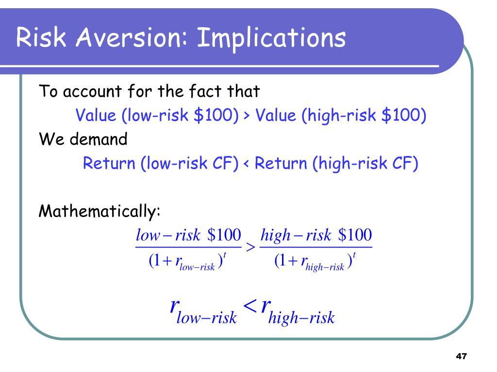 Risk Aversion: Implications