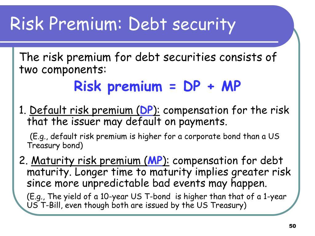 Risk Premium: D