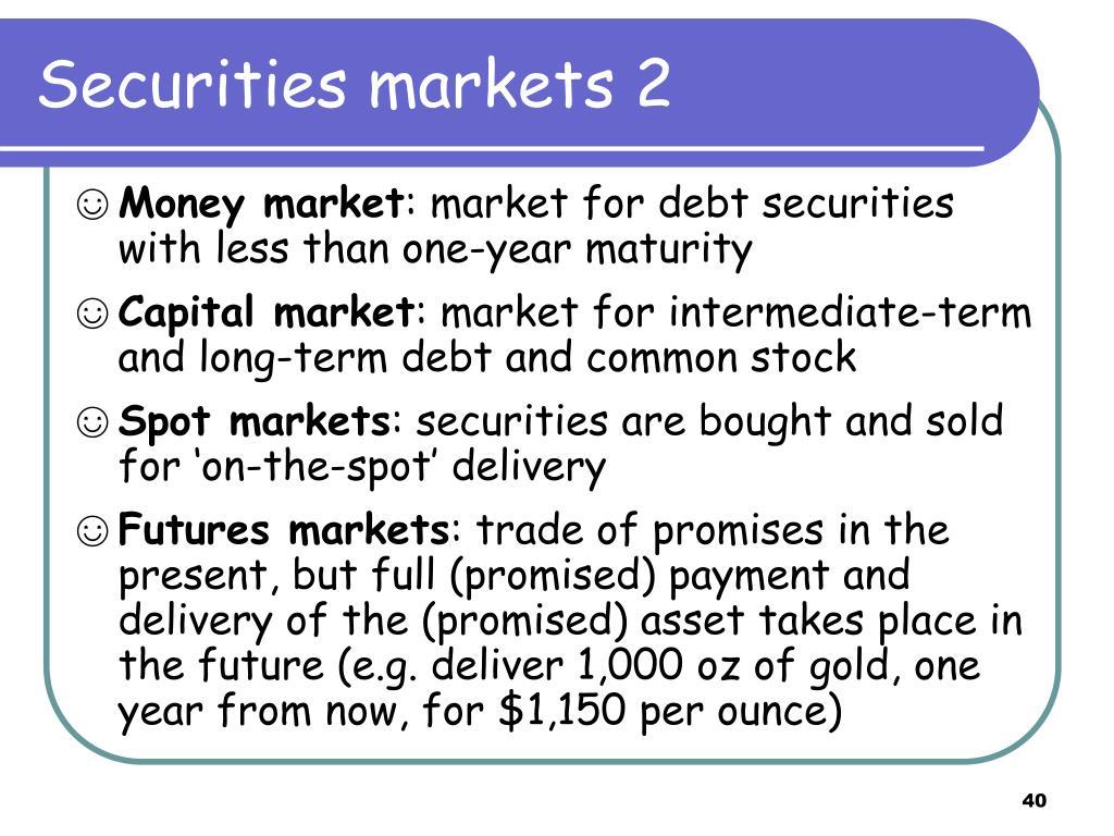 Securities markets 2