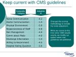 keep current with cms guidelines