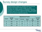 survey design changes