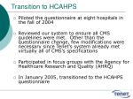 transition to hcahps