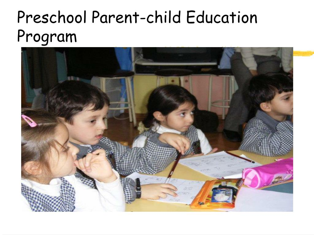 Preschool Parent-child Education Program
