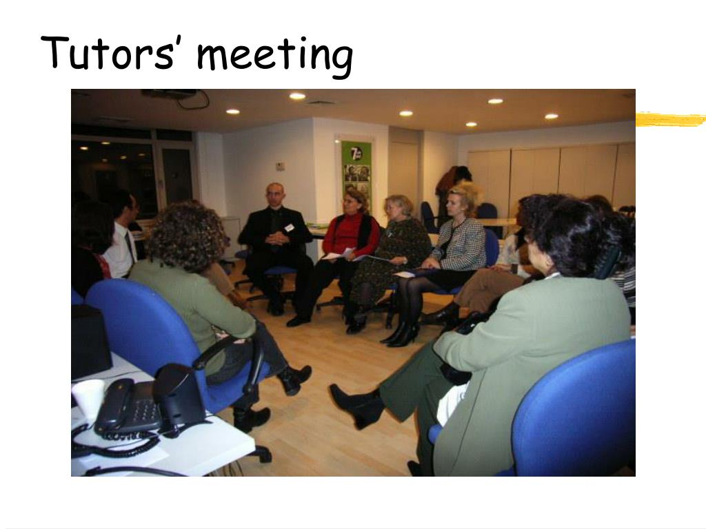Tutors' meeting