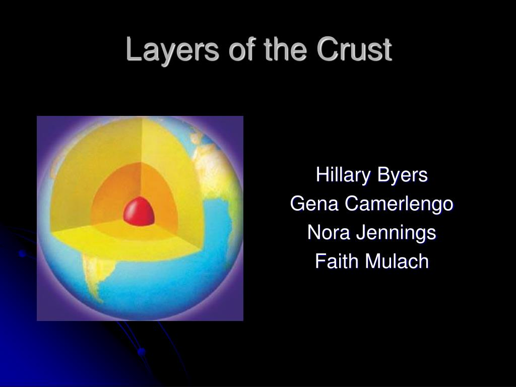 layers of the crust l.