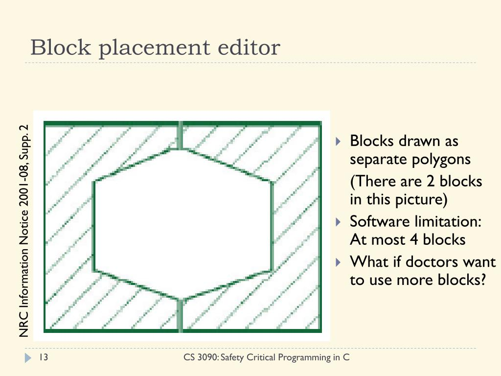 Block placement editor