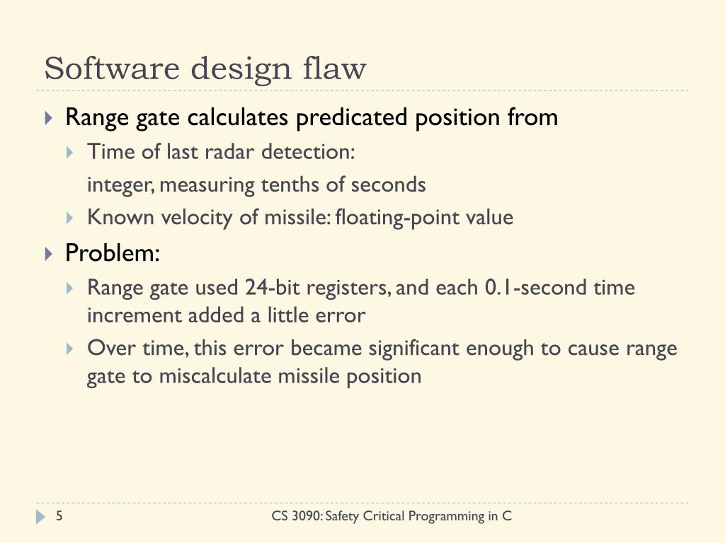 Software design flaw