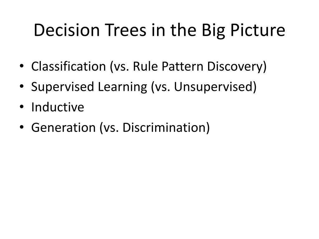 decision trees in the big picture l.