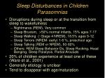 sleep disturbances in children parasomnias