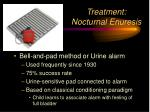 treatment nocturnal enuresis