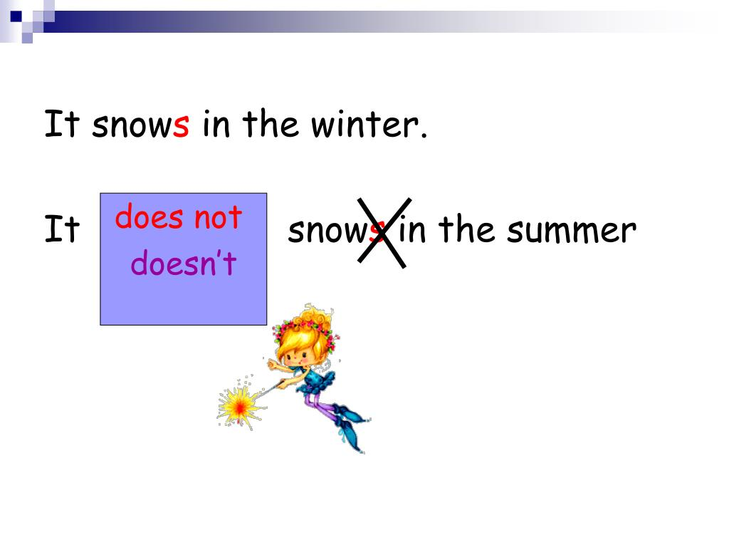 It snow