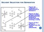 solvent selection for separation20