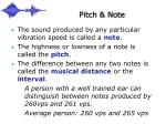 pitch note