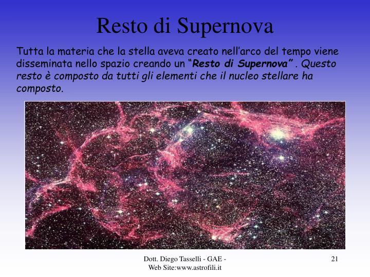 Resto di Supernova