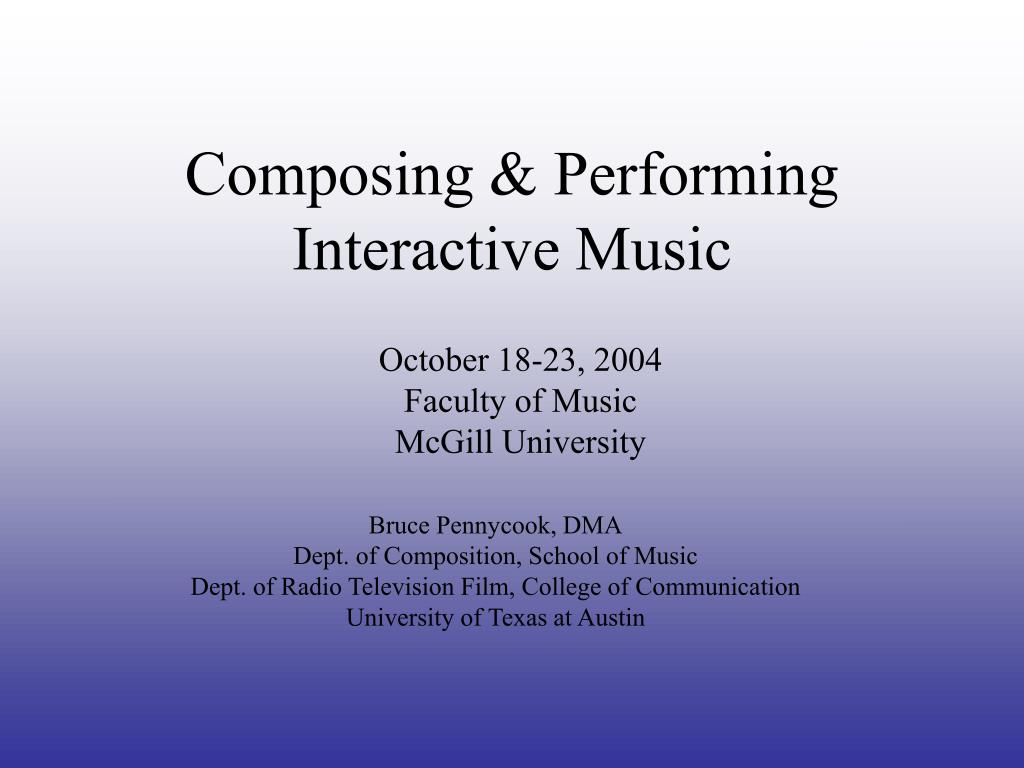 composing performing interactive music l.