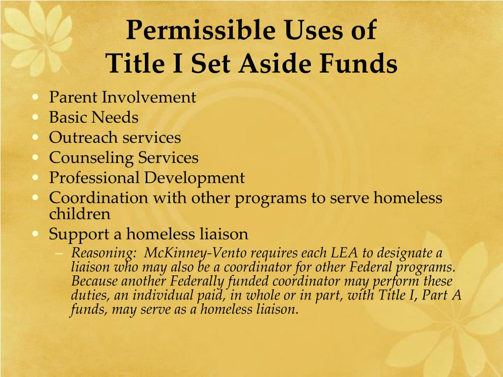 Permissible Uses of