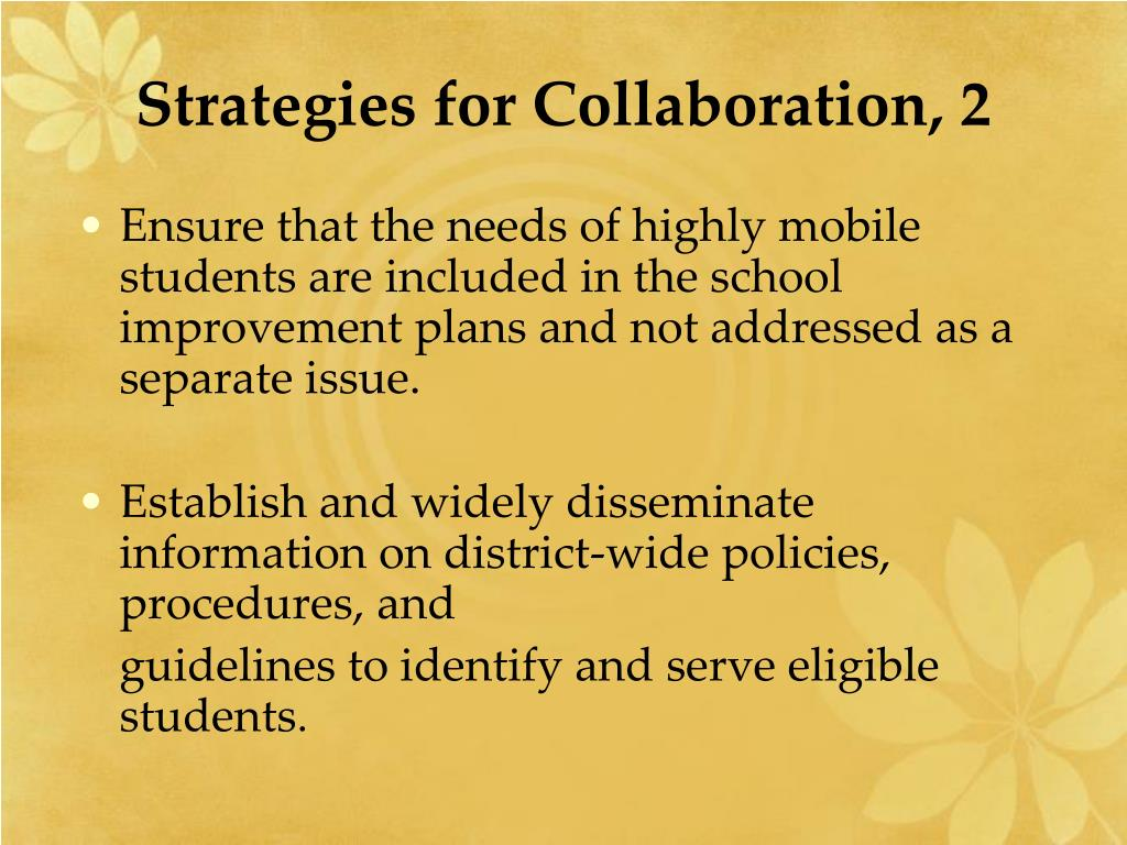 Strategies for Collaboration, 2