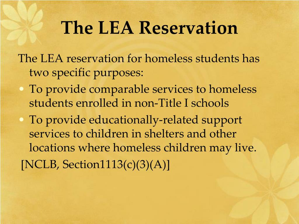The LEA Reservation