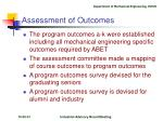 assessment of outcomes